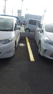 段差の駐車場
